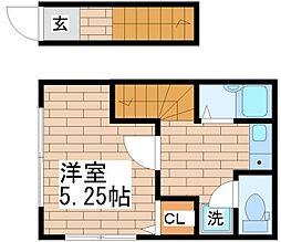 兵庫県神戸市長田区山下町4丁目の賃貸アパートの間取り