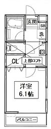 神奈川県横浜市戸塚区矢部町の賃貸アパートの間取り