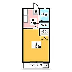コウリュウマンションII[2階]の間取り