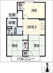 セジュール村瀬[1階]の間取り