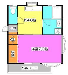 パレス斉藤II[2階]の間取り