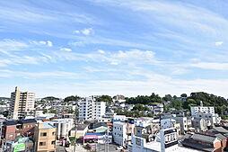 南面バルコニーからの眺望写真