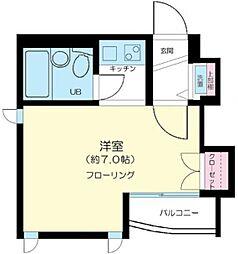 東京都狛江市元和泉2丁目の賃貸マンションの間取り