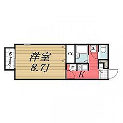 千葉県四街道市栗山の賃貸アパートの間取り