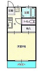 エクセルワタナベ[2階]の間取り