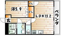 サンビレッジ翔II[2階]の間取り