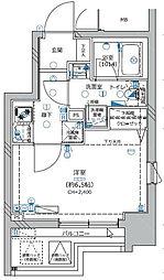 Le'a横濱サイドアベニュー 8階1Kの間取り