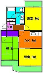 静岡県磐田市下万能の賃貸マンションの間取り