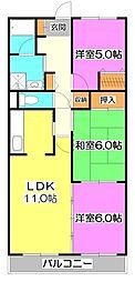 プリムローズ上福岡[4階]の間取り