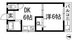 イワオビル11番館[2階]の間取り