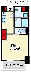 仮) 折尾4丁目マンション 10階1Kの間取り