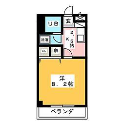 シャトー横山壱番館[3階]の間取り