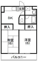 レイクコート富塚[2階]の間取り