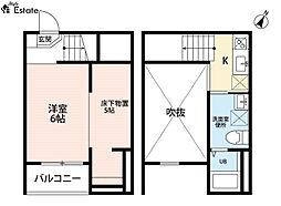 amusant (アミュザン)[2階]の間取り