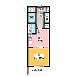 音羽壱番館金山[8階]の間取り