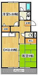 パティオ東菅野コミュニティ 1番館[3階]の間取り