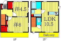 [テラスハウス] 東京都葛飾区西水元3丁目 の賃貸【東京都 / 葛飾区】の間取り