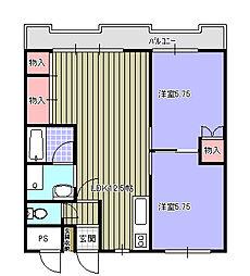 パークマンションアイワ[153号室]の間取り