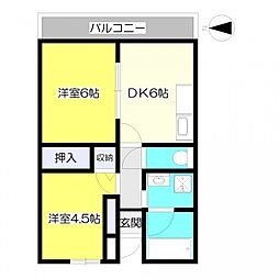 エルム大倉山9[311号室号室]の間取り