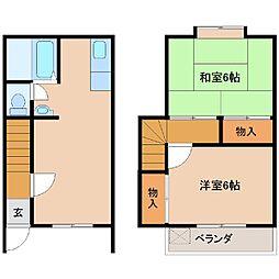 ヨシワラハイツA[3号室]の間取り