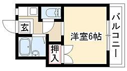 愛知県名古屋市昭和区川名本町4丁目の賃貸アパートの間取り