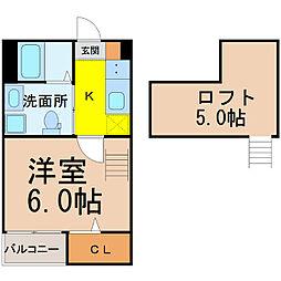 愛知県名古屋市南区源兵衛町3丁目の賃貸アパートの間取り