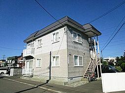 北海道札幌市北区篠路一条7丁目の賃貸アパートの外観