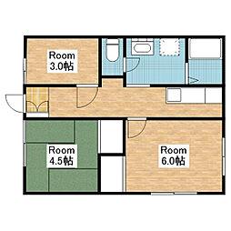 池野アパート[102号室]の間取り