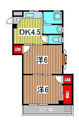 コーポサトウ[1階]の間取り