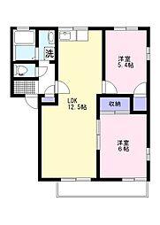 サニーハウス長浦 E[2階]の間取り