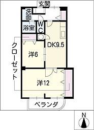 コンフォート・フカヤ[1階]の間取り