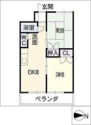 清風マンション[1階]の間取り