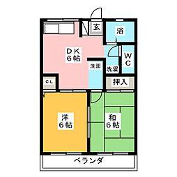 セルティアB棟[1階]の間取り