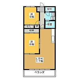 アステール[7階]の間取り