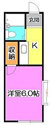 ハリコットハウス[1階]の間取り