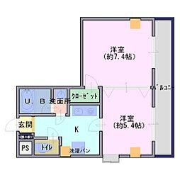 シダヴィレッジ[7階]の間取り