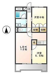 第5共栄ハイツ[4階]の間取り