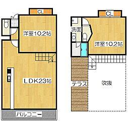 Grand E' terna京都[10階]の間取り