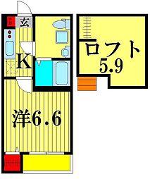 HORIZON III[2階]の間取り