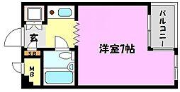 兵庫県神戸市灘区記田町2丁目の賃貸マンションの間取り