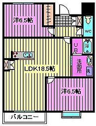 エトワール大成町[2階]の間取り