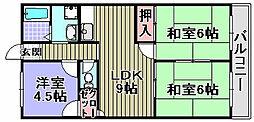 神農マンション[3階]の間取り