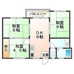 西舞子マンション[3階]の間取り