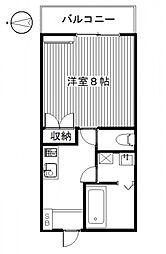 MIKIハイツIID[2号室号室]の間取り
