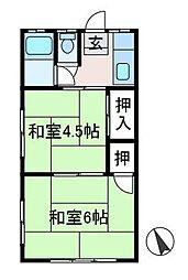 宮本荘[2階]の間取り