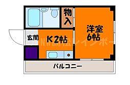 香川県高松市昭和町2丁目の賃貸マンションの間取り