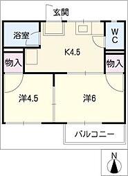 サンフォーブル[2階]の間取り