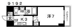 casa vera luce(カサベラルーチェ)[603号室号室]の間取り