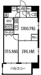 ポンドマムハカタ[6階]の間取り