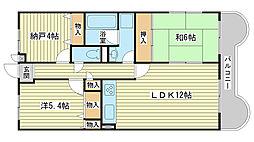 ライオンズマンション広畑正門通[202号室]の間取り